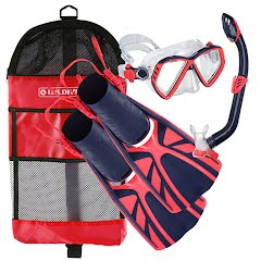 Us Divers Youth Regal Jr Mask Laguna Snorkel and Lava Fin Combo Kit Image