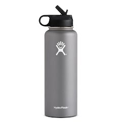 Hydro Flask 40 oz Wide Mouth Water Bottle with Straw Lid Image