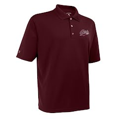Antigua Mens U of M Griz Exceed Short Sleeve Polo Shirt Image