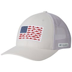 Columbia Men's PFG Mesh Snap Back Fish Flag Ball Cap Image
