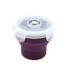 Eco Vessel Snacker Collapsible Silicone Box Food Storage Container Image