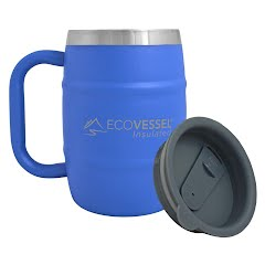 Eco Vessel Double Barrel Insulated Beer/Coffee Mug (16oz) Image