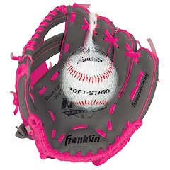 Franklin Youth Teeball Performance Series 9.5 in. Baseball Glove with Ball Image