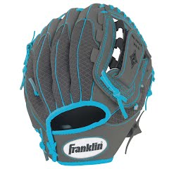 Franklin Youth 10.5 in. Infinite Web/Shok-Sorb Teeball Glove (Graphite/Blue) Image