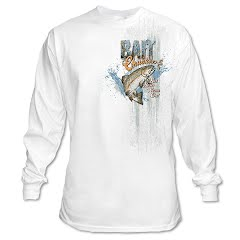 Graphic Imprints Mens Bait Chuckers Get Your Worm On Graphic L/S Tee Image