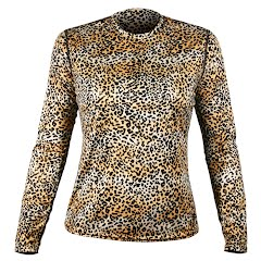 Hot Chillys Women's Peachskin Cheetah Crew Image