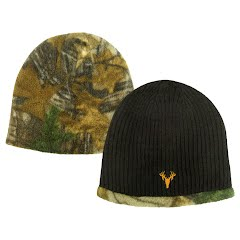 Hot Shot Youth Acrylic Knit Reversible Beanie Image
