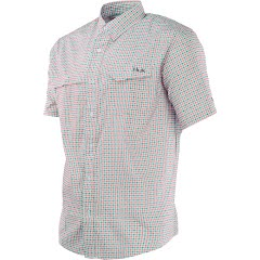 Huk Men's Tide Point Woven Plaid Short Sleeve Shirt Image