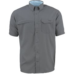 Huk Men's Tide Point Woven Solid Short Sleeve Shirt Image