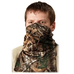 Hunter Specialties Scent-A-Way Silver Lightweight Spandex Neck Gaiter 1/2 Mask Image