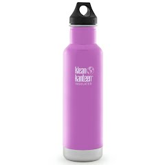 Klean Kanteen 20oz Classic Vacuum Insualted Water Bottle with Loop Cap Image