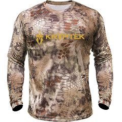 Kryptek Apparel Men's Hyperion Long Sleeve Crew with Logo Image