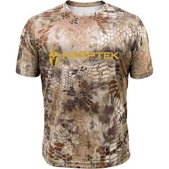 Kryptek Apparel Men's Hyperion Short Sleeve Crew with Logo (Extended Sizes) Image
