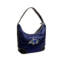 Littlearth Montana State University Bobcats Quilted Hobo Purse Image
