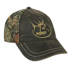 Outdoor Cap RMEF Weathered Cotton/Camo Cap Image