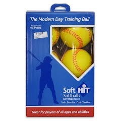 Soft Hit Practice Softballs (6 Pack) Image