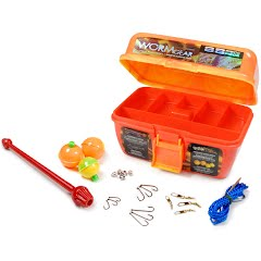 South Bend Worm Gear 88-Piece Loaded Tackle Box Kit Image