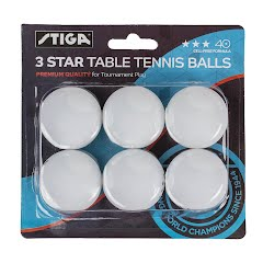 Stiga Three-Star Table Tennis Balls Image