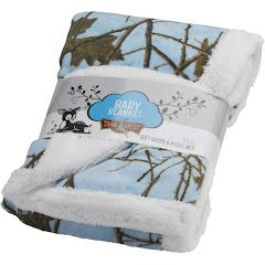Trail Crest Plush Coral Double Layer Fleece Camo Baby Blanket Image