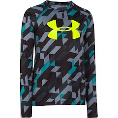 Under Armour Boy's Youth Embossed Long Sleeve Shirt Image