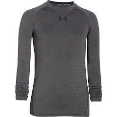 Under Armour Boy's UA HeatGear Armour Long Sleeve Fitted Shirt Image
