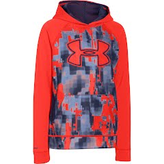 Under Armour Boy`s UA Storm Armour Fleece Printed Big Logo Hoodie Image