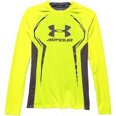 Under Armour Youth Boy`s UA HeatGear Armour Up Long Sleeve Fitted Shirt Image