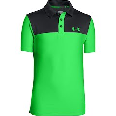 Under Armour Boy`s Youth Matchplay Blocked Polo Image