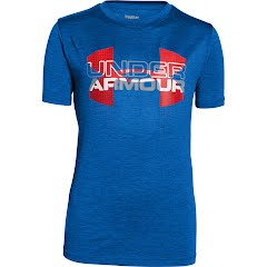 Under Armour Boy`s Youth Tech Big Logo Hybrid T-Shirt Image