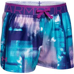 Under Armour Girl's Youth Printed Play Up short Image