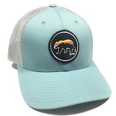 948159103358b Grizzly Sunset Low Profile Trucker Hat. by Uptop