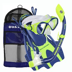 Us Divers Youth Buzz Mask + Island Dry Jr Snorkel + Hingeflex Fins Combo Image