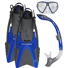 Us Divers Adult Magellan LX/ Atlantis LX/ Mystra Snorkeling Set (Medium) Image