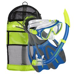 Us Divers Youth Dorado Mask, Seabreeze Jr Snorkel and Proflex Jr Fins Image