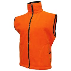 World Famous Youth Preschool Blaze Orange Fleece Vest Image