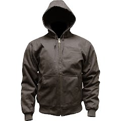 World Famous Men's Hooded Insulated Canvas Jacket Image