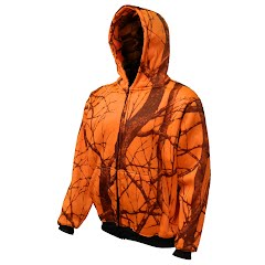 World Famous Men's Orange Camo Thermal Hoodie Image
