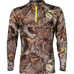 World Famous Men's Wicking 1/4 Zip Camo Shirt Image