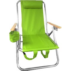 World Famous Folding Aluminum Beach Backpack Chair Image