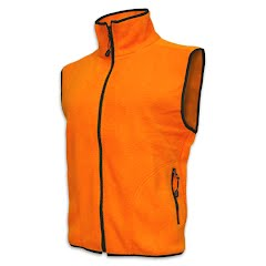 World Famous Youth Blaze Orange Fleece Vest Image