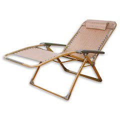 World Famous Zero Gravity Square Steel Frame Lounge Chair Image