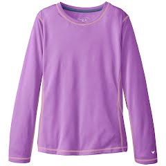 White Sierra Girls Youth Sun Buster Long Sleeve Shirt Image