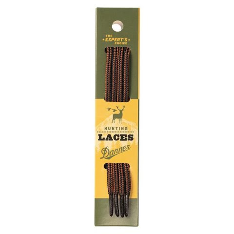 Image of Danner Black And Tan Boot Laces ( 63 Inch ) - Black