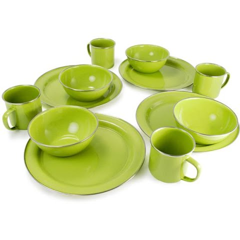 Image of Gsi Outdoors 12 Piece Pioneer Table Set - 25212green