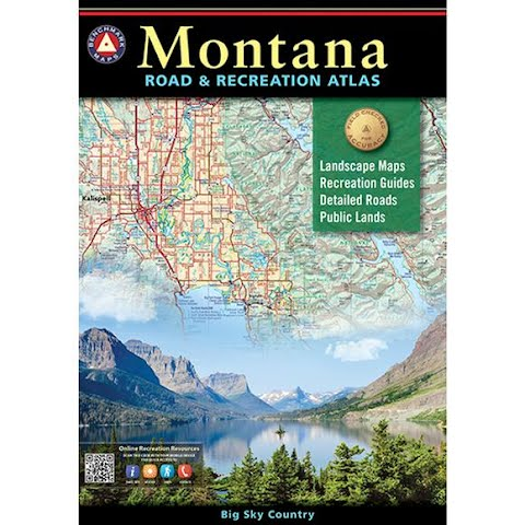 Image of Benchmark Maps Montana Road And Recreation Atlas