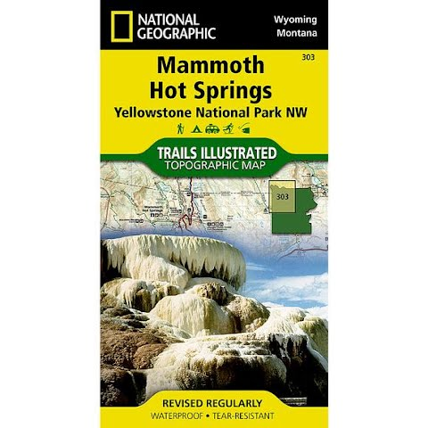 Image of National Geographic Mammoth Hot Springs : Yellowstone National Park Nw Map