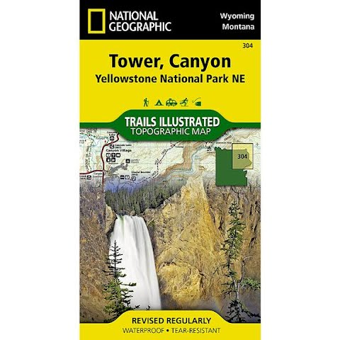 Image of National Geographic Tower , Canyon : Yellowstone National Park Ne Map