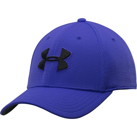 Blitzing II Stretch Fitted Cap (Black/White L/XL) - Under Armour 1254123