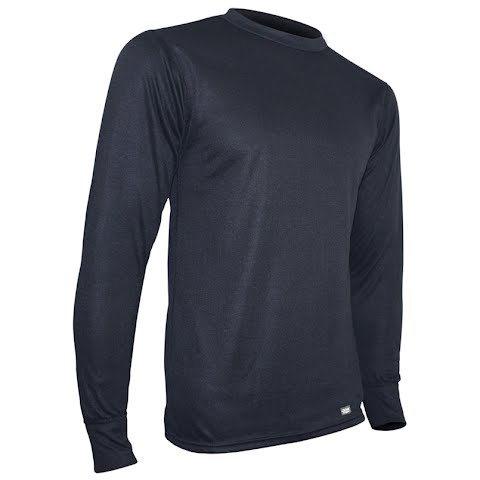 Image of Polarmax Mens Acclimate 2 Ply Crew Base Layer ( Tall ) - Black