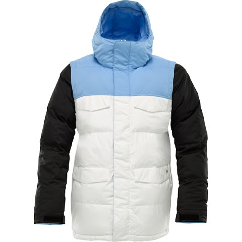 Image of Burton Mens Deerfield Puff Snowboarding Jacket - Blue 23 Colorblock